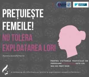 Comunicat campanie - Prețuiește femeile! Nu tolera exploatarea lor!